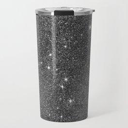 Modern elegant black faux glitter luxury pattern Travel Mug