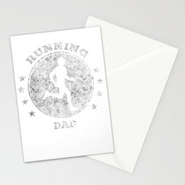 Running Dad I Daddy Jogging for Men Marathon Gift Stationery Cards