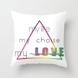 Love Pyramid Throw Pillow