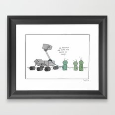 Martian's Best Friend  Framed Art Print