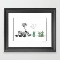 Martian's Best Friend  Framed Art Print