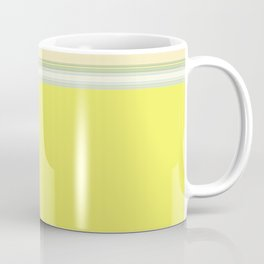 Bright Yellow Green Stripes Coffee Mug