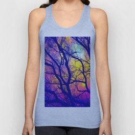 Black Trees Deep Bright & Colorful Space Unisex Tank Top