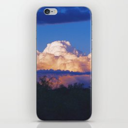 Glowing clouds after the storm iPhone Skin