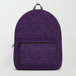 Purple retrowave grid Backpack