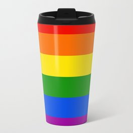 Rainbow Stripes Travel Mug