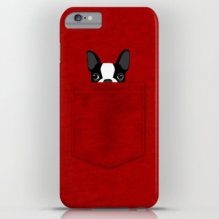 pocket boston terrier iphone case