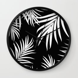Palm Leaves Pattern Summer Vibes #4 #tropical #decor #art #society6 Wall Clock