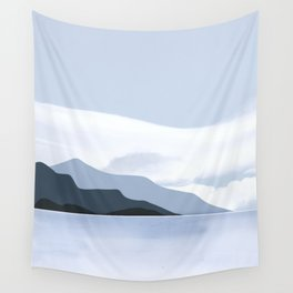 Calmness of Blue Wall Tapestry