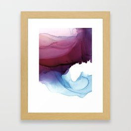 Shades of Purple Framed Art Print