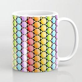 Rainbow Dotty Stripes Coffee Mug