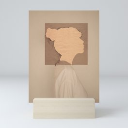 Paper portrait Mini Art Print