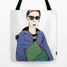 Bag Lady Blue Tote Bag