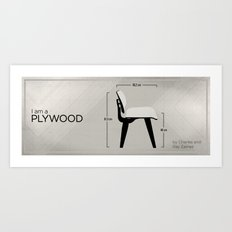 Chairs - A tribute to seats: I'm a Plywood (intro) Art Print