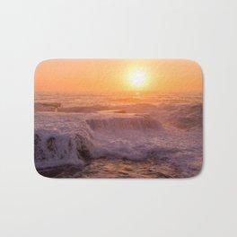 Sunset Rolling Waves Bath Mat