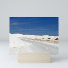 White Sand Reaches Up To The Horizon Mini Art Print