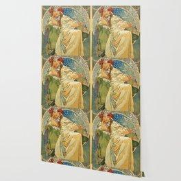 Princezna Hyacinta Alphonse Mucha Wallpaper