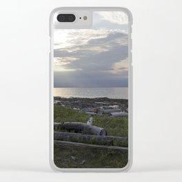 Sea wood Clear iPhone Case