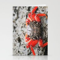 crab Stationery Cards featuring Crab by Cassidy Marshall