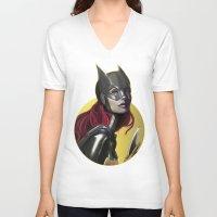 batgirl V-neck T-shirts featuring BATGIRL by corverez