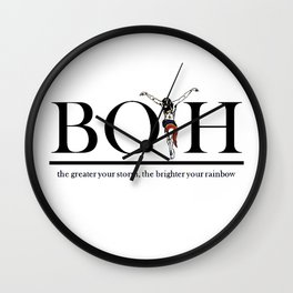 The Greater Your Storm The Brighter Your Rainbow Wall Clock
