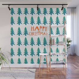 Happy Christmas Wall Mural