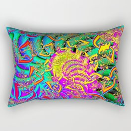 Like Candy Psychedelic 3D Abstract Rectangular Pillow