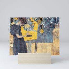 "Gustav Klimt ""Music (Die Musik)"" Mini Art Print"