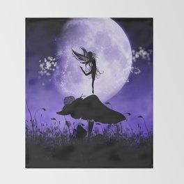 Fairy Silhouette 2 Throw Blanket