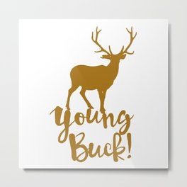 Young Buck Cool Hipster Swag Metal Print