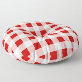 Red and White Check Floor Pillow