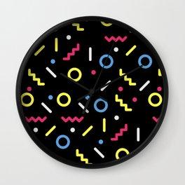 shapes patternn Wall Clock