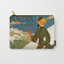 Vintage Chamonix Mont Blanc France Travel Carry-All Pouch