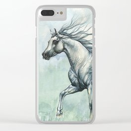 Running arabian horse Clear iPhone Case