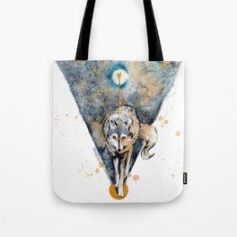 Lunar Wolf Tote Bag