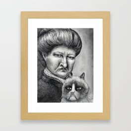Untitled - Charcoal Drawing Framed Art Print