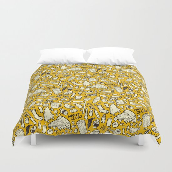 Filthy Lunch Dance Party Duvet Cover