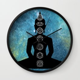 Sacred Geometry - Chakras Aligned Wall Clock