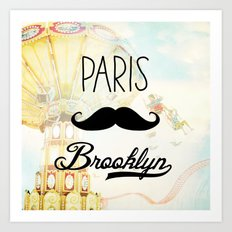 Paris Brooklyn Art Print