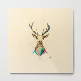 Illustrated Antelope Metal Print