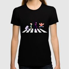 Steven Universe on Abbey Road Black Womens Fitted Tee SMALL