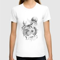 snail T-shirts featuring snail by Dominic Damien