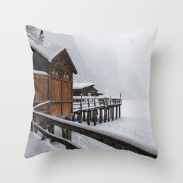 Lago di Braies, Italy. Throw Pillow