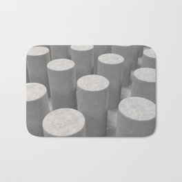 Concrete with cylinders Bath Mat