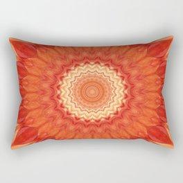 Mandala orange red Rectangular Pillow