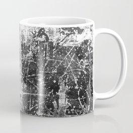 black abstract mono graffiti texture pattern Coffee Mug