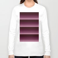 burgundy Long Sleeve T-shirts featuring Burgundy stripes by SimplyChic
