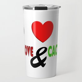 Peace, Love & Cactusness Travel Mug