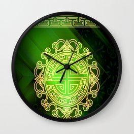 Jade island Wall Clock
