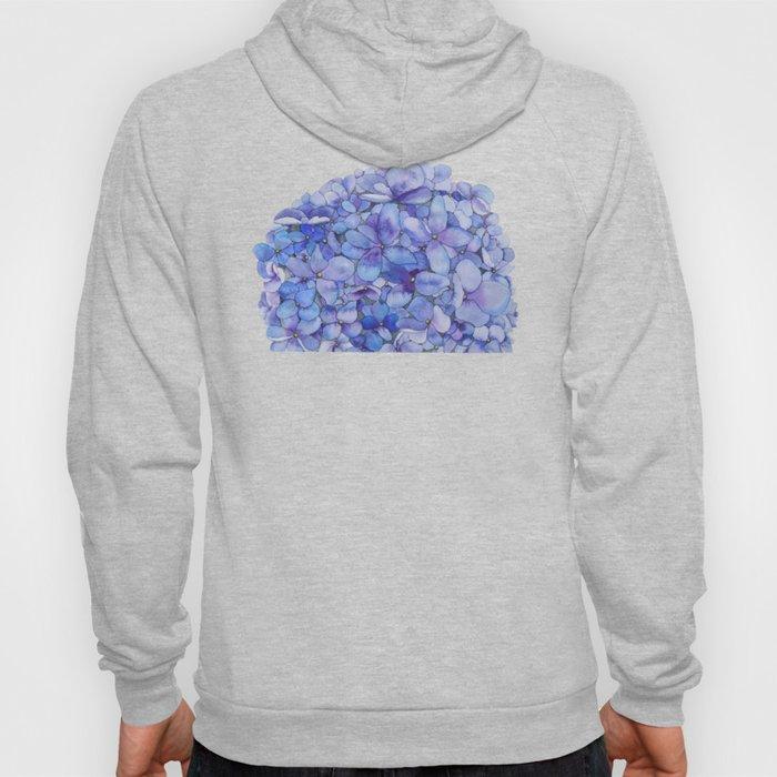 Watercolour Hydrangea Hoody
